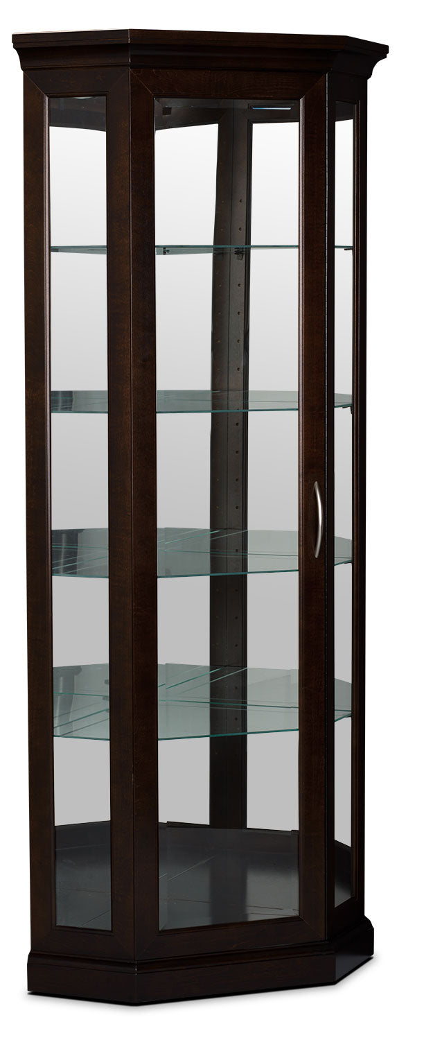 London Corner Display Cabinet|Armoire vitrée de coin London