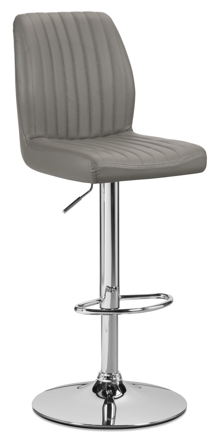 Monarch Adjustable Bar Stool Grey The Brick