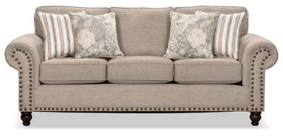 Wynn Chenille Sofa – Beige - Traditional style Sofa in Beige