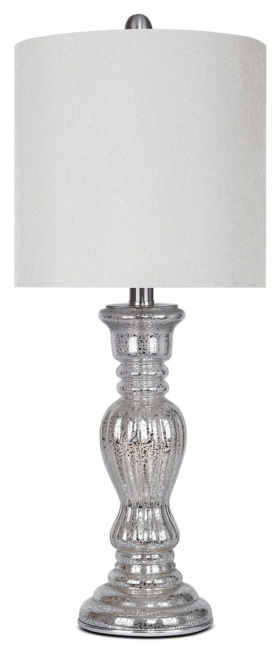 Mercury Finish Brushed Nickel Table Lamp|Lampe de table en nickel brossé au fini mercure|GT9112LP