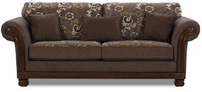 Hazel Chenille Sofa - Quartz - Traditional style Sofa in Quartz
