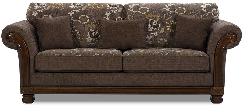 Hazel Chenille Sofa Quartz The Brick