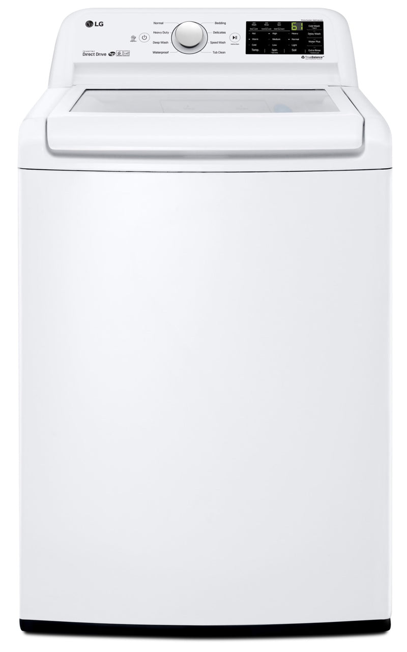 LG 5.2 Cu. Ft. Top-Load Washer with 6Motion™ Technology & TurboDrum WT7100CW - White - Washer with Energy Star in White