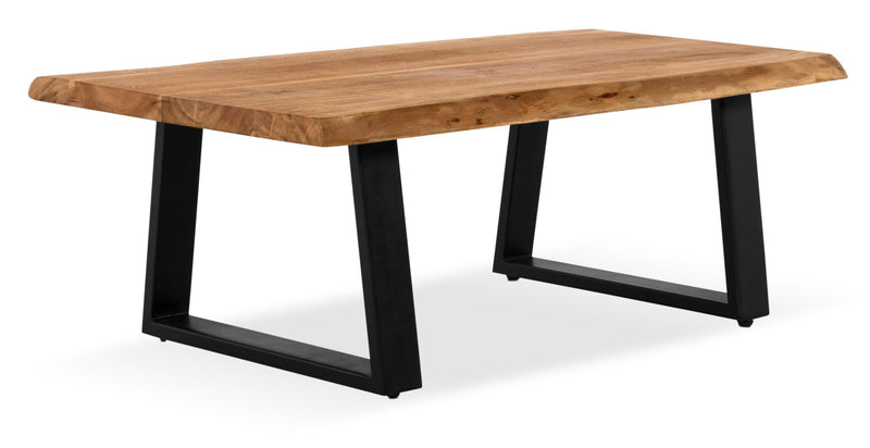 Agra Coffee Table - Retro style Coffee Table in Brown/Black Wood