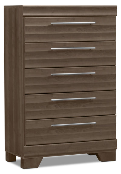 Olivia Chest – Grey - Modern style Chest in Grey Engineered Wood and Laminate Veneers