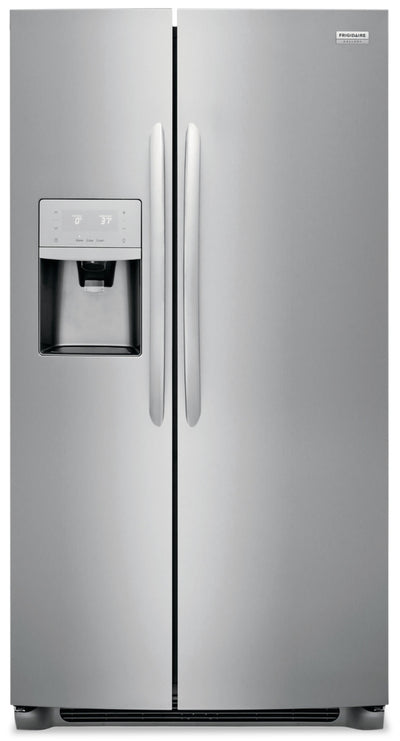 Frigidaire Gallery 22.2 Cu. Ft. Counter-Depth Side-by-Side Refrigerator - FGSC2335TF - Refrigerator in Smudge-Proof® Stainless Steel