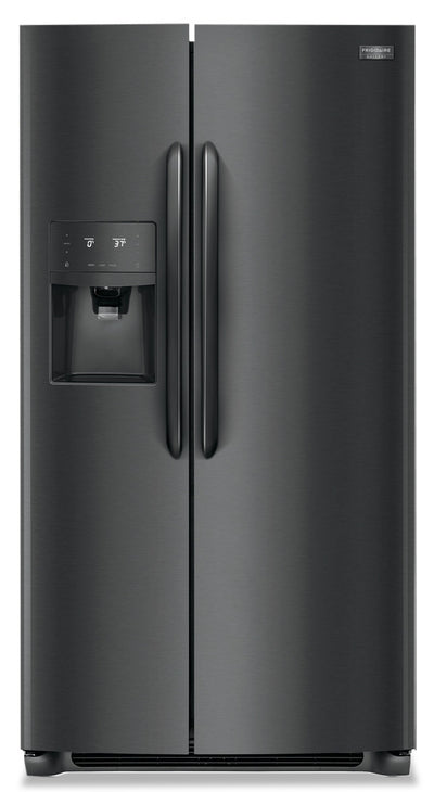 Frigidaire Gallery 22.2 Cu. Ft. Counter-Depth Side-by-Side Refrigerator - FGSC2335TD - Refrigerator in Smudge-Proof Black Stainless Steel