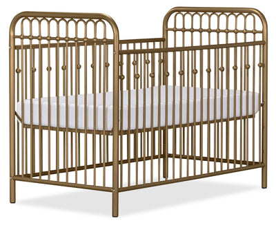 Monarch Hill Metal Crib – Gold - Glam style Crib in Gold Steel
