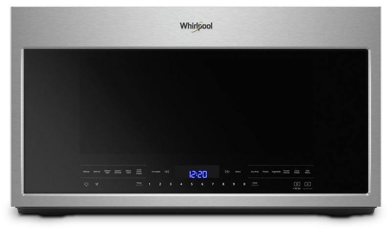 Whirlpool 2.1 cu. ft. Over the Range Microwave with Steam cooking|Four à micro-ondes à hotte intégrée Whirlpool®, avec cuisson à vapeur 2,1 pi3|YWMH750Z