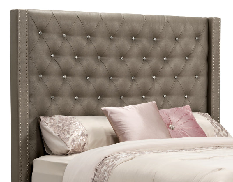 Diva Faux Leather Queen Headboard|Tête de lit Diva en similicuir pour grand lit
