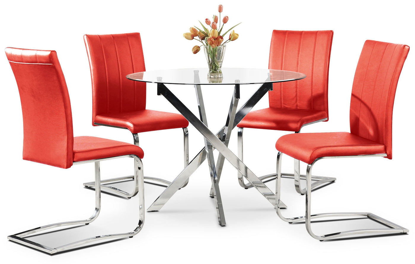 a7c2a5af8688d Tori 5-Piece Dining Package - Red
