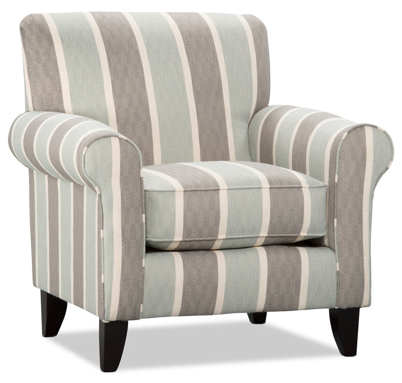 Tula Fabric Accent Chair – Beach Mist - Traditional style Chair in Beach Mist