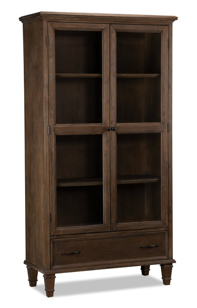 Florence Bookcase with Doors - Traditional style Bookcase in Hazelnut Poplar, Birch