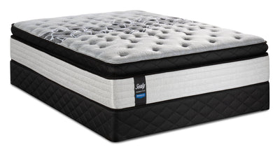 Sealy Posturepedic Proback Plus Floral Bliss Euro Pillowtop Queen Mattress Set