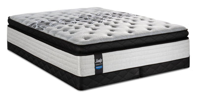 Sealy Posturepedic Proback Plus Floral Bliss Euro Pillowtop Low-Profile King Mattress Set|Ensemble à Euro-plateau épais à profil bas Floral Bliss PROBACK Plus Sealy pour très grand lit|FLORLLKP