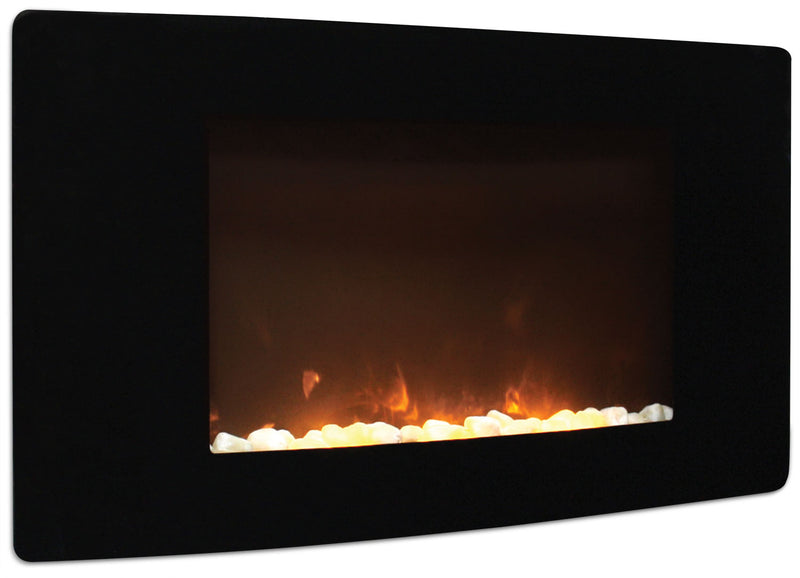 "Barcelona 35"" Curved Wall-Mount Fireplace
