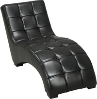 Icon Curved Black Chaise