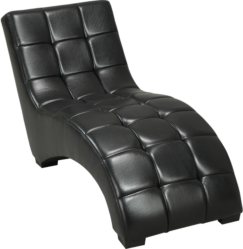 Icon Curved Black Chaise|Fauteuil long courbé Icon noir