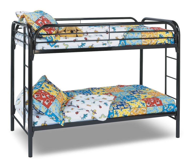 Monarch Twin Bunk Bed – Black|Lits simples superposés Monarch - noirs
