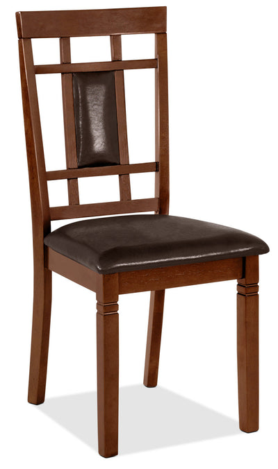Aran Dining Chair – Dark Walnut - Contemporary style Dining Chair in Walnut MDF and Veneers