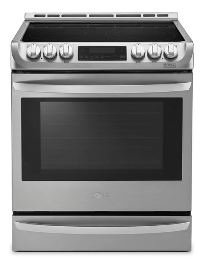 LG 6.3 Cu. Ft. Front-Control Freestanding Electric Range with ProBake Convection™ – Stainless Steel|Cuisinière électrique encastrée LG de 6,3 pi3 avec système ProBake ConvectionMC - acier inoxydable|LSE5613S