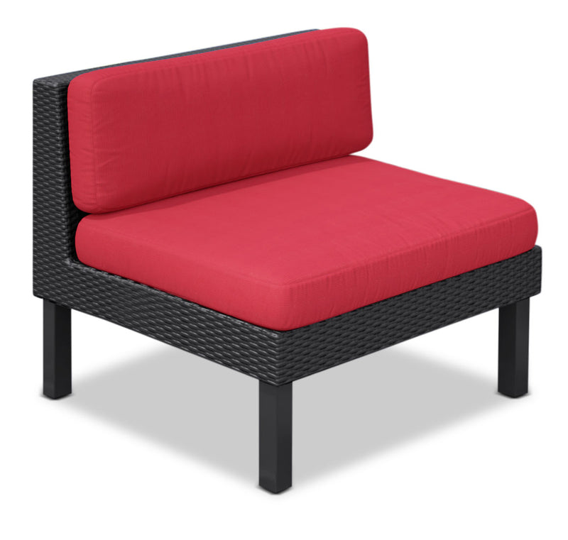 Oakland Armless Patio Chair – Red|Fauteuil sans accoudoir Oakland pour la terrasse - rouge