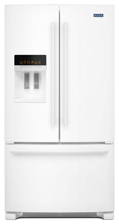Maytag 25 Cu. Ft. French-Door Refrigerator – MFI2570FEW - Refrigerator with Exterior Water/Ice Dispenser, Ice Maker in White