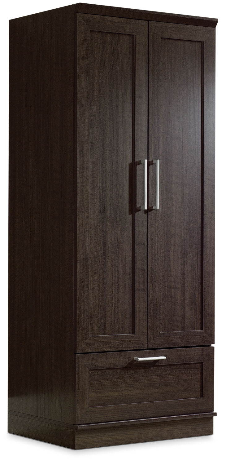 Clinton 29 Wardrobe Storage Cabinet Dakota Oak The Brick