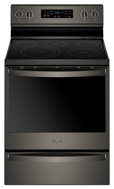 Whirlpool® 6.4 Cu. Ft. Freestanding Electric Range with Frozen Bake™ Technology - Electric Range in Black Stainless Steel