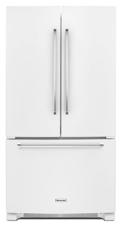 KitchenAid 20 Cu. Ft. French Door Refrigerator with Interior Dispenser - White - Refrigerator in White