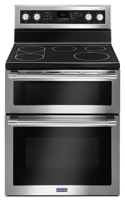 Maytag 6.7 Cu. Ft. Double Oven Electric Range with True Convection – YMET8800FZ - Electric Range in Stainless Steel