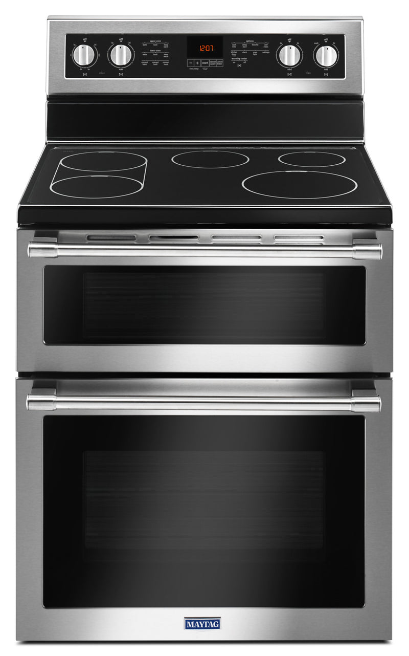 Maytag 6.7 Cu. Ft. Double Oven Electric Range with True Convection – YMET8800FZ|Cuisinière électrique Maytag de 6,7 pi³ à double four avec convection véritable – YMET8800FZ