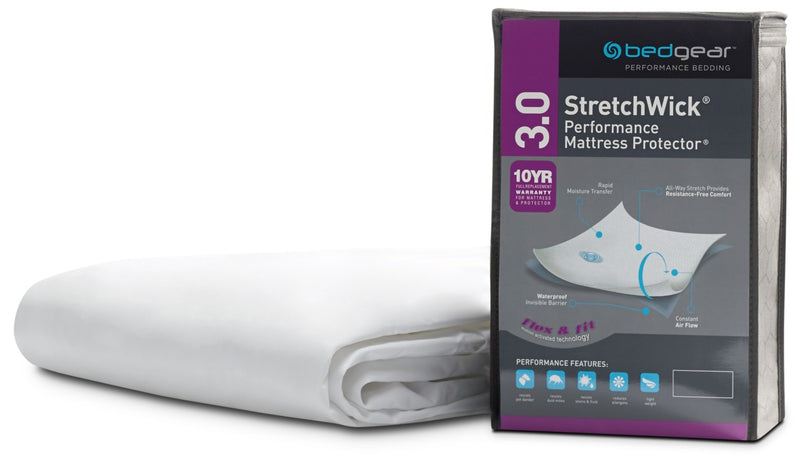 Bedgear™ StretchWick® 3.0 Performance Twin Mattress Protector|Protège-matelas Performance 3.0 BedgearMC avec tissu StretchWickMD pour lit simple