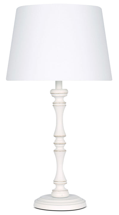Megan Antique White Table Lamp|Lampe de table Megan blanche antique|LL1498TL