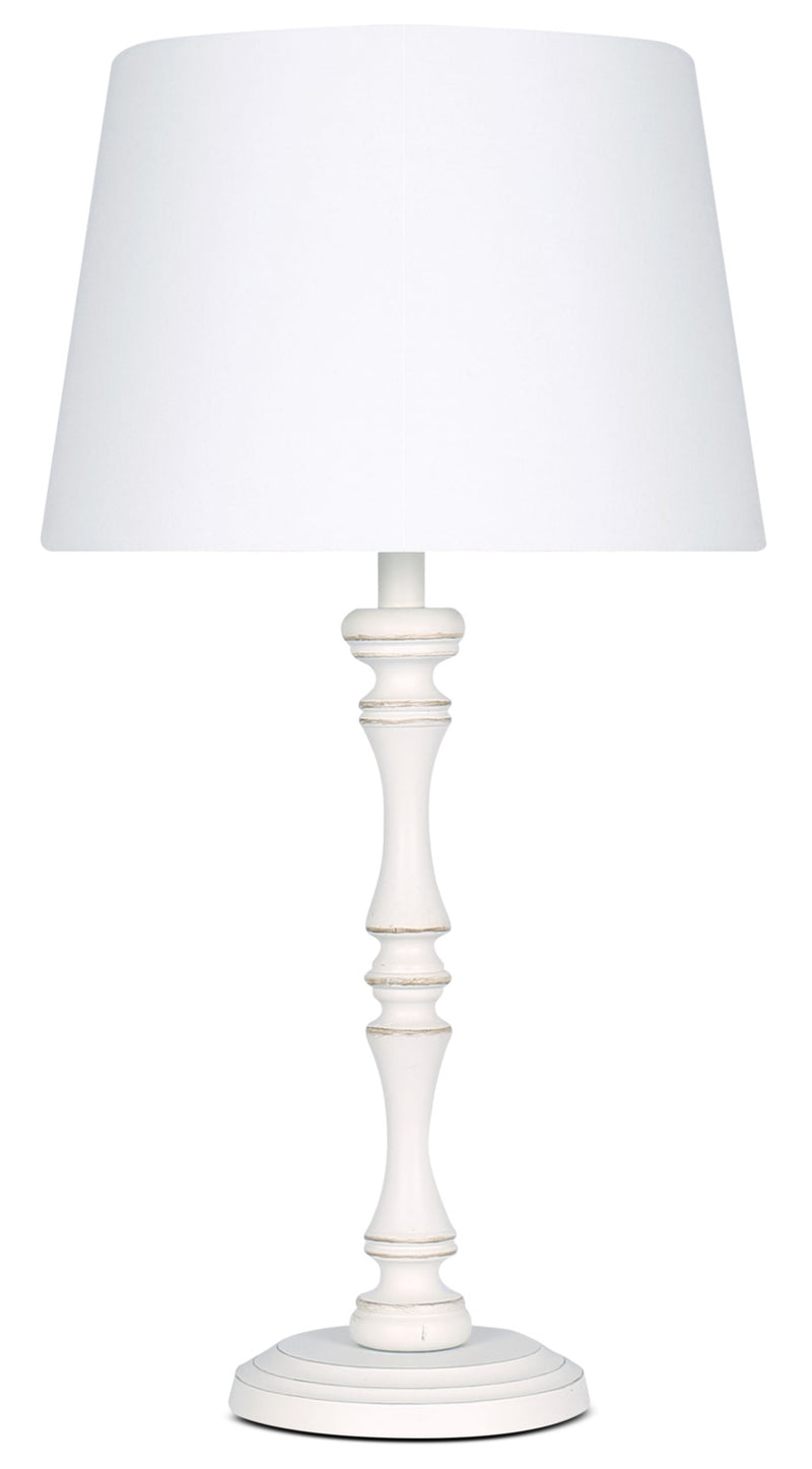 Megan Antique White Table Lamp|Lampe de table Megan blanche antique
