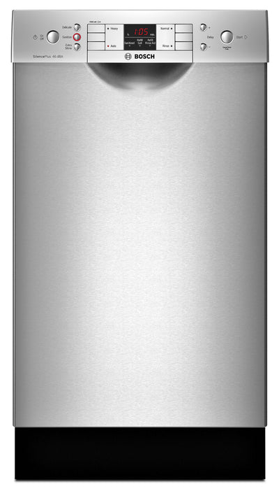 "Bosch 300 Series Compact 18"" Built-In Dishwasher – SPE53U55UC - Dishwasher in Stainless Steel"