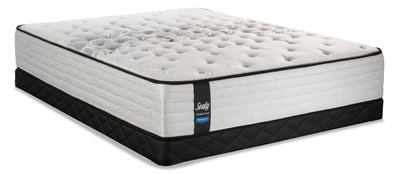 Sealy Posturepedic Proback Plus Geranium Low-Profile Queen Mattress Set