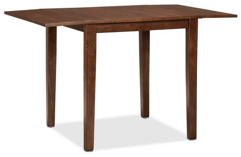 Adara Square Drop Leaf Table - Contemporary style Dining Table in Burnished Mango