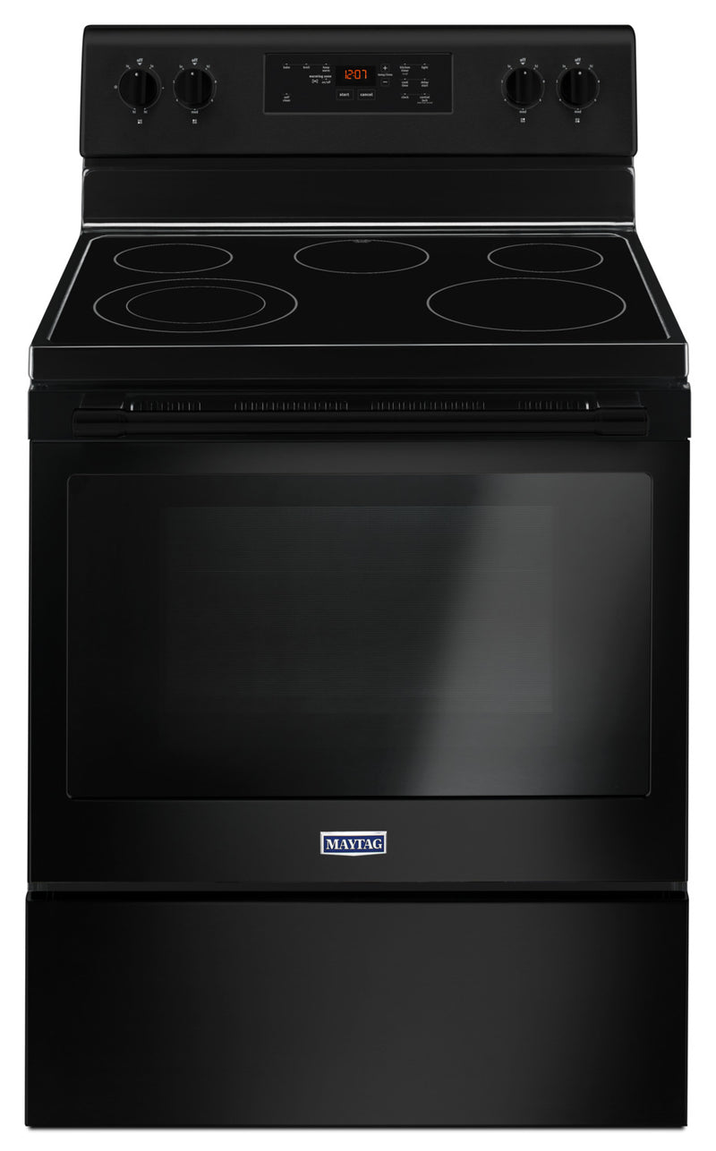 Maytag 5.3 Cu. Ft. Electric Freestanding Range – YMER6600FB|Cuisinière électrique amovible Maytag de 5,3 pi3 – YMER6600FB