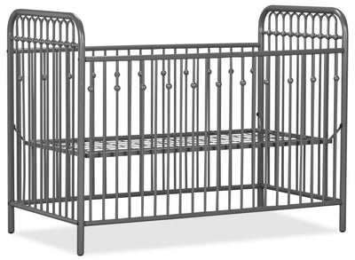 Monarch Hill Metal Crib – Grey|Lit à barreaux en métal Monarch Hill pour bébé - gris|MNHLGMCB