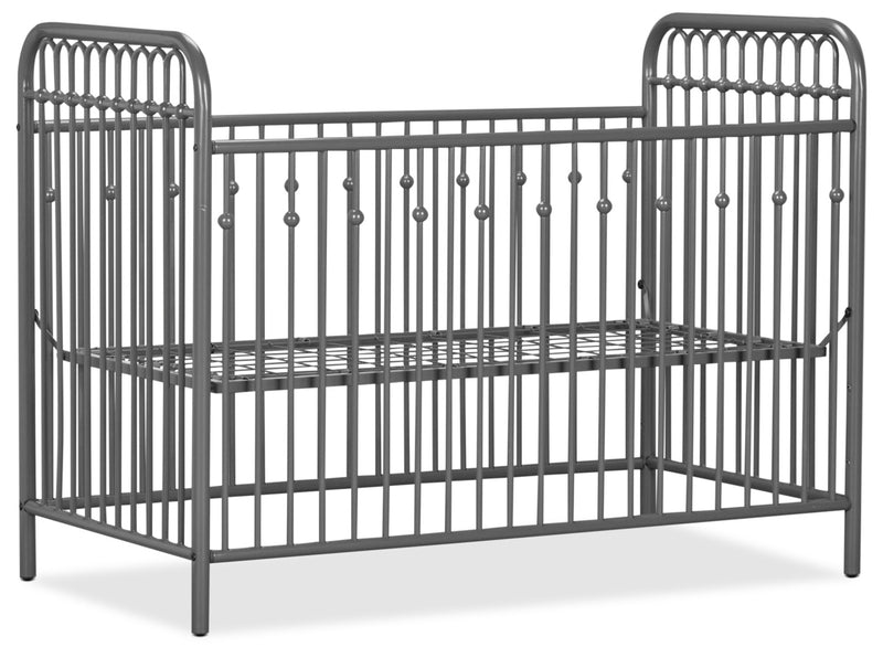Monarch Hill Metal Crib – Grey|Lit à barreaux en métal Monarch Hill pour bébé - gris
