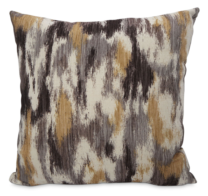 Rain Accent Pillow – Grey, Yellow and Ivory|Coussin décoratif Rain - gris, jaune et ivoire