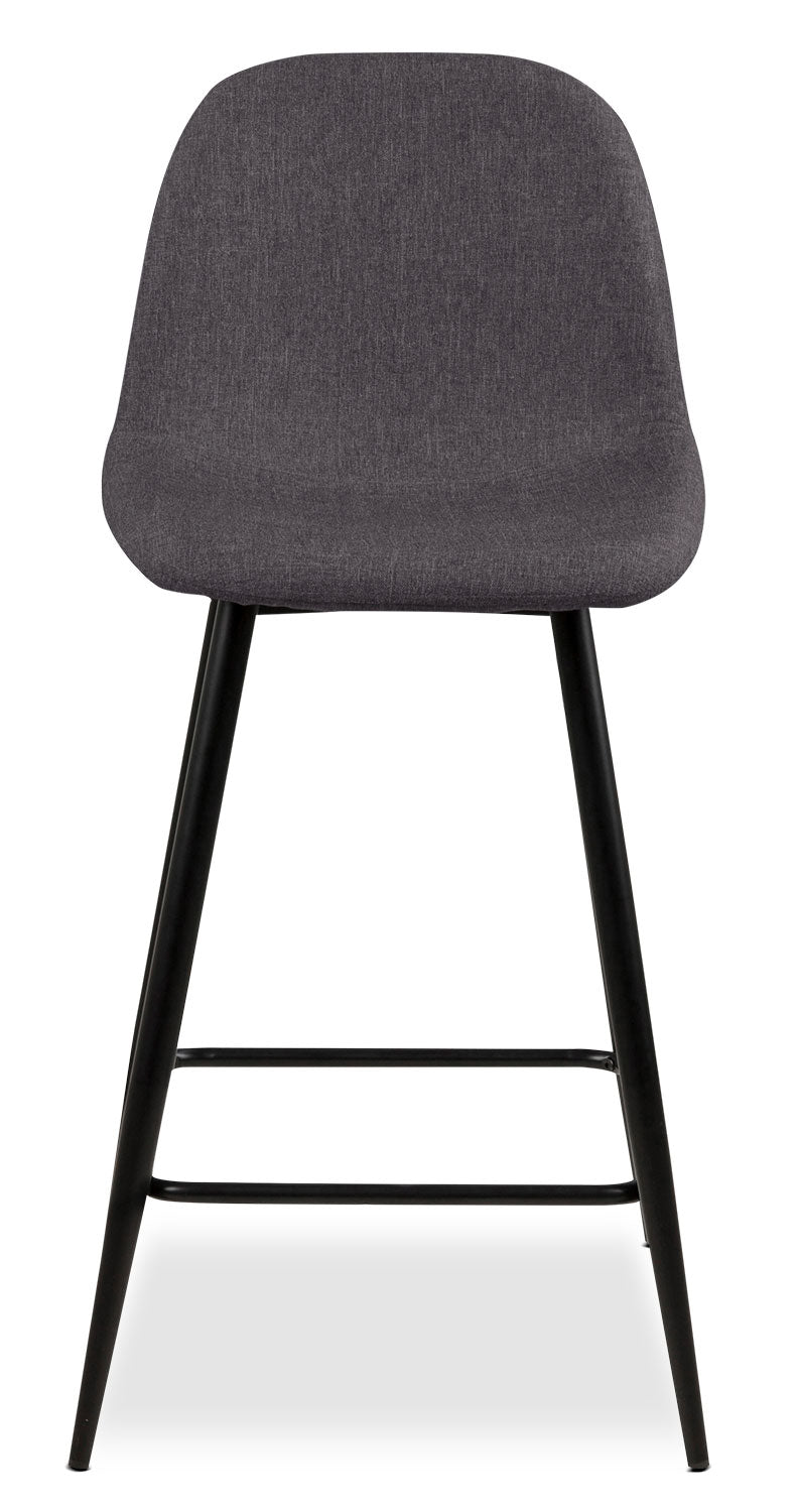 Wilma Counter-Height Chair – Grey - Modern style Dining Chair in Grey Metal and Polyester