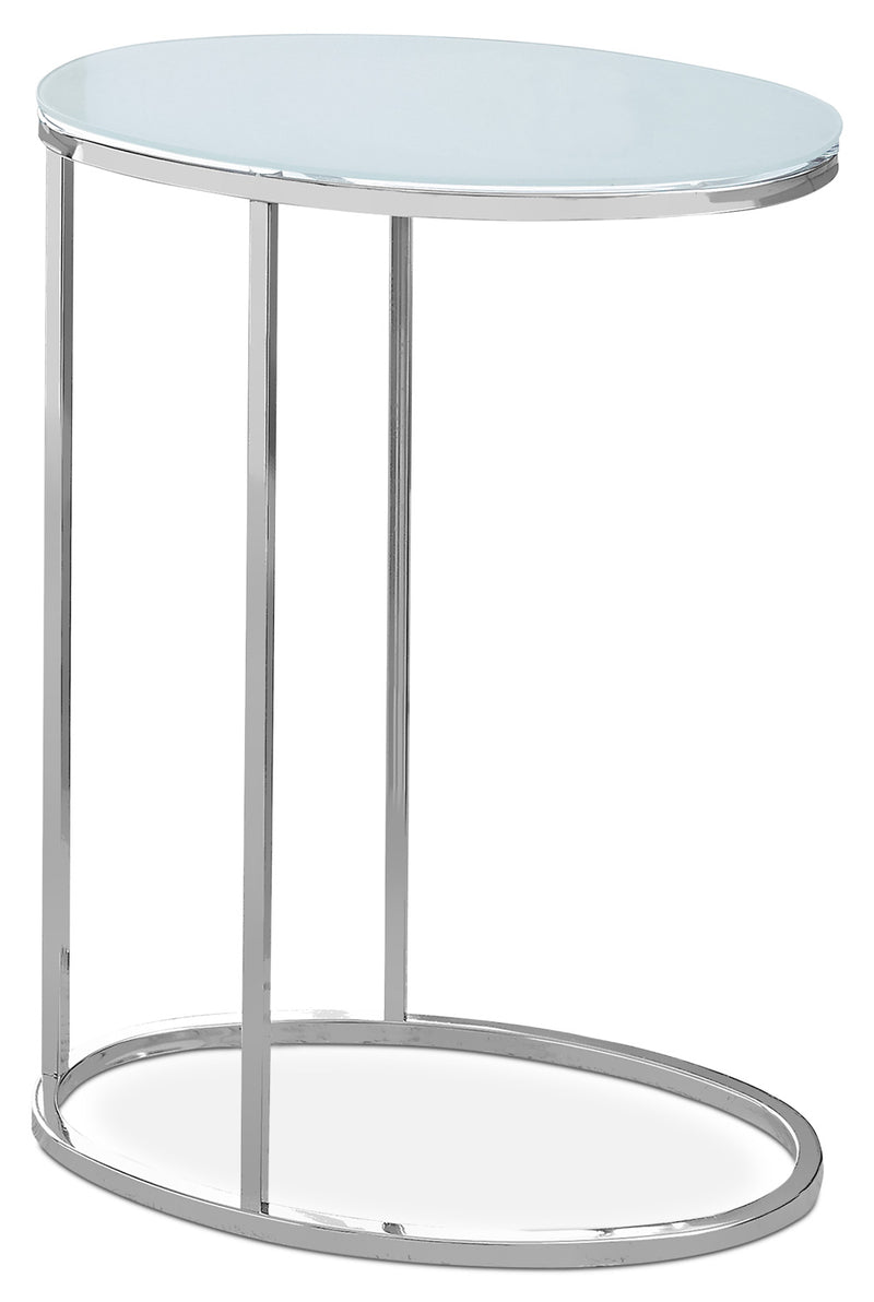 Acklie Accent Table – Frosted Glass|Table d'appoint Acklie - verre givré