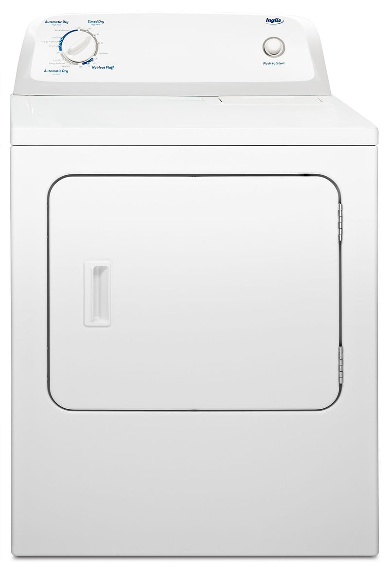 Inglis 6.5 Cu. Ft. Electric Dryer with Automatic Drying Control – YIED4671EW|Sécheuse électrique Inglis de 6,5 pi³ - blanche