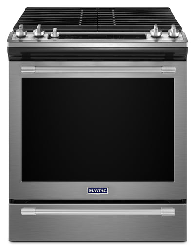 Maytag 5.8 Cu. Ft. Slide-in Gas Range – MGS8800FZ - Gas Range in Stainless Steel