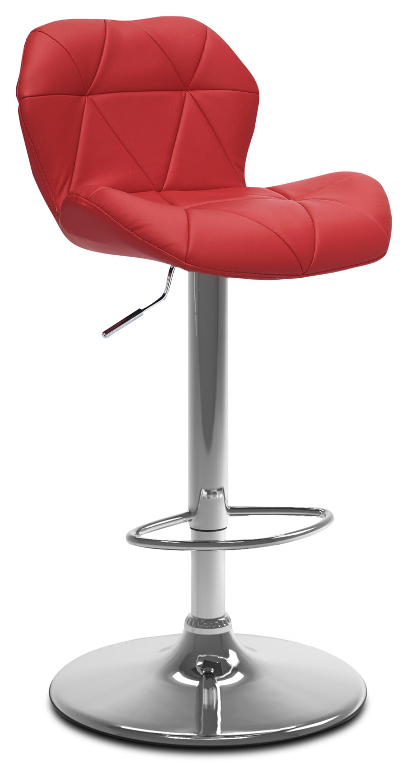Emry Adjustable Bar Stool – Red|Tabouret bar réglable Emry - rouge