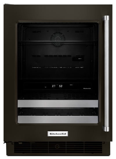 KitchenAid 4.8 Cu. Ft. Beverage Centre with Left-Door Swing – Black Stainless Steel - Refrigerator in Black Stainless Steel