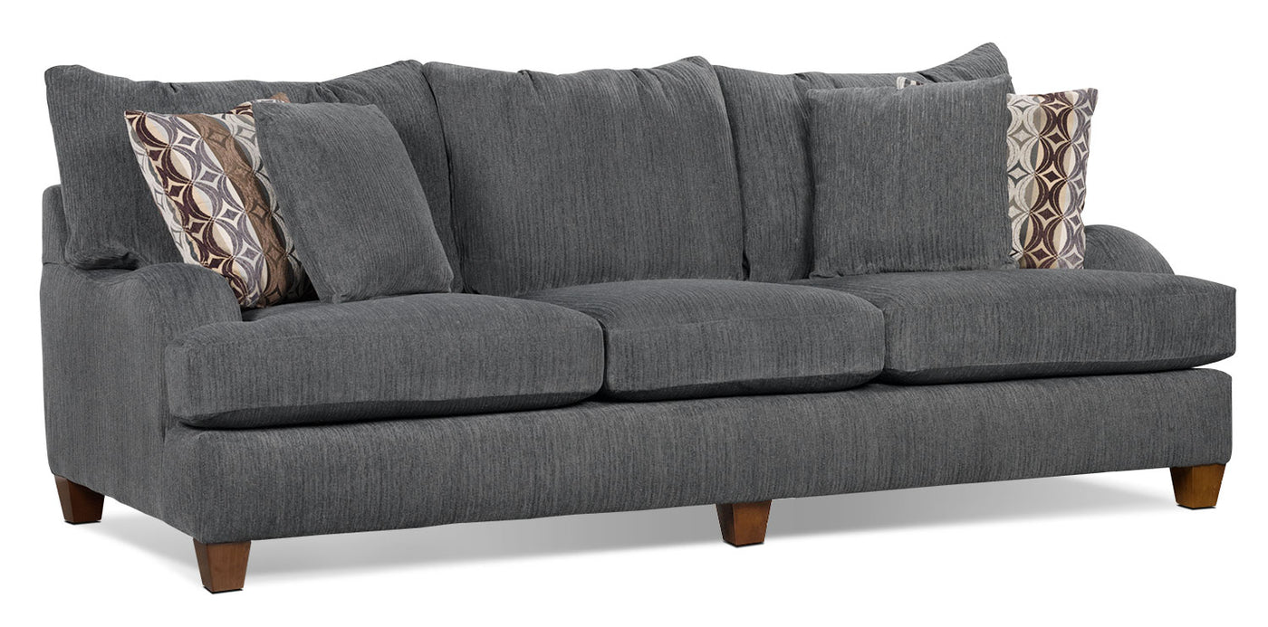 Putty Chenille Queen Size Sofa Bed Grey