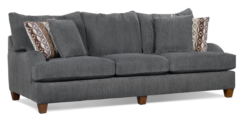 Putty Chenille Queen Size Sofa Bed Grey The Brick
